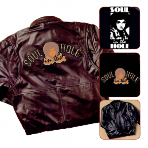 Soul in the Hole Cowhide Leather Jacket, Fully Embossed Back
